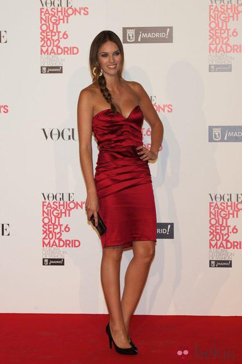 Helen Lindes en la Vogue Fashion's Night Out 2012 en Madrid