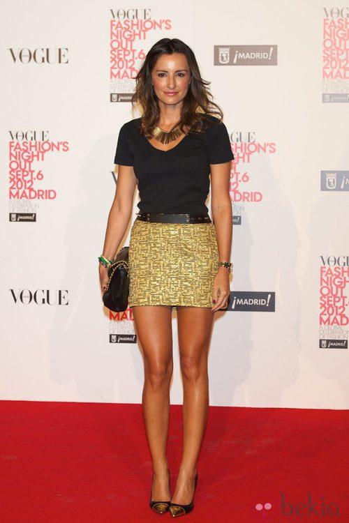 Mónica de Tomás en la Vogue Fashion's Night Out 2012 en Madrid