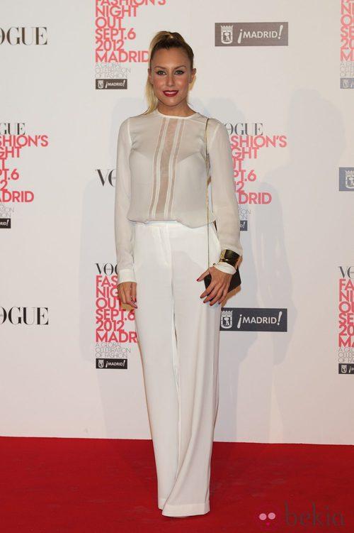 Berta Collado en la Vogue Fashion's Night Out 2012 en Madrid