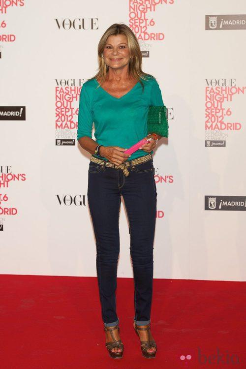 Cari Lapique en la Vogue Fashion's Night Out 2012 en Madrid
