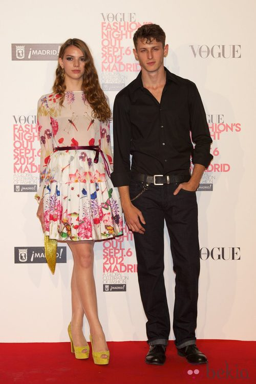 Cristina Duato y Nicolás Coronado en la Vogue Fashion's Night Out 2012 en Madrid