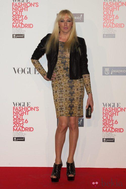Topacio Fresh en la Vogue Fashion's Night Out 2012 en Madrid