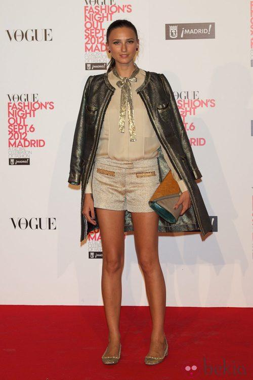 Mayte de la Iglesia en la Vogue Fashion's Night Out 2012 en Madrid