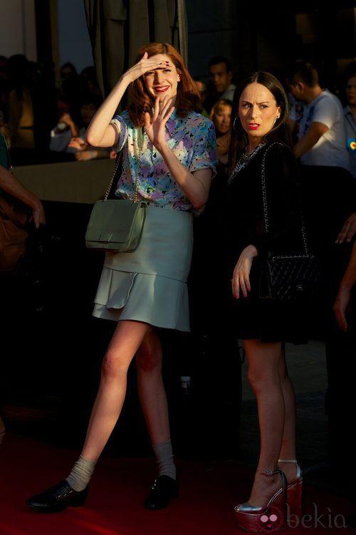 Brianda Fitz-James Stuart y María Escoté en la Vogue Fashion's Night Out 2012 en Madrid