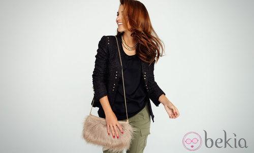 Paula Echevarría con una chaqueta tweed del otoño/invierno 2012/2013 de Suiteblanco
