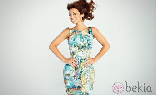 Paula Echevarría con un vestido estampado del otoño/invierno 2012/2013 de Suiteblanco