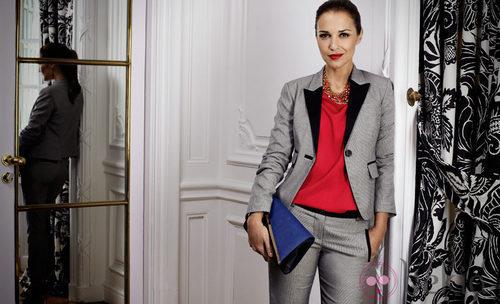 Paula Echevarría con un look masculino del otoño/invierno 2012/2013 de Suiteblanco