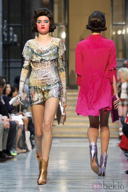 Minivestido estampado de Vivianne Westwood primavera/verano 2013