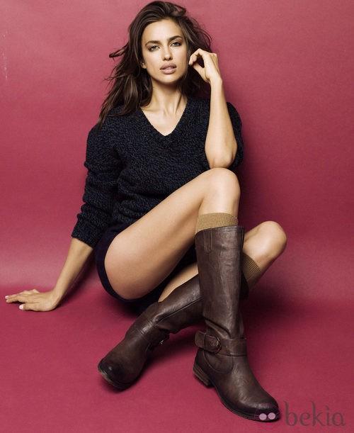 Irina Shayk posa con botas altas en la nueva campaña de Xti otoño/invierno 2012/2013