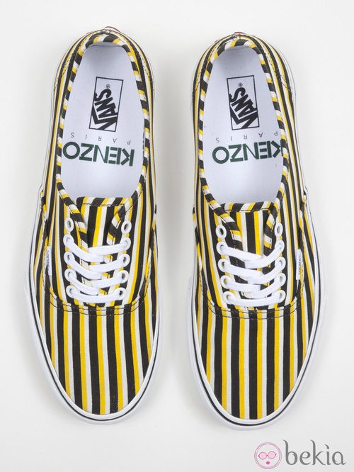 Zapatillas de rayas amarillas y negras de la colección Vans x Kenzo parte II