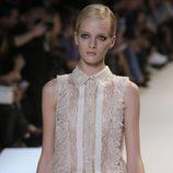 Minivestido camisero en tono nude de Elie Saab primavera/verano 2013