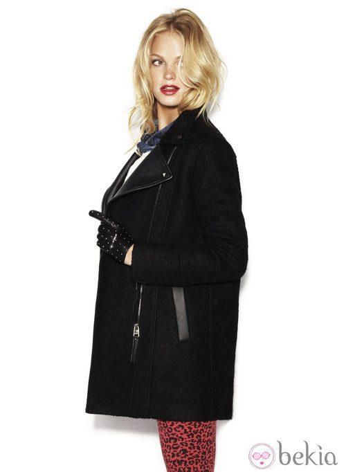 Abrigo negro oversize de Suiteblanco otoño/invierno 2012/2013