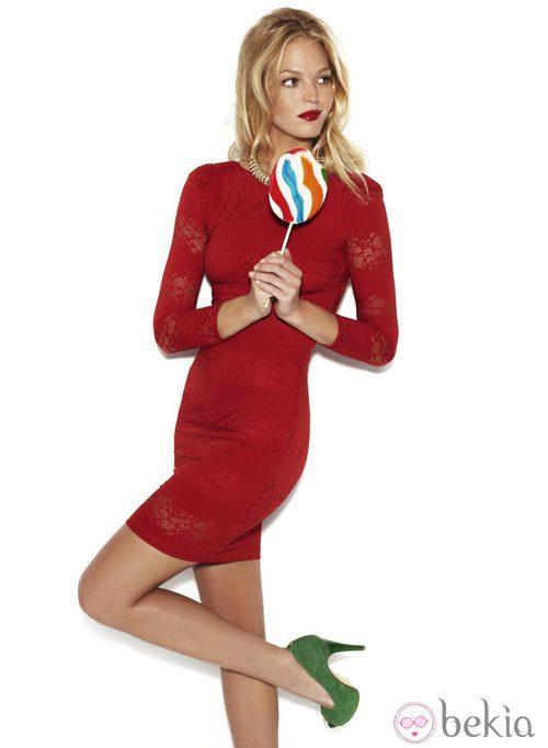 Vestido rojo entallado de Suiteblanco otoño/invierno 2012/2013