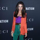 Camilla Belle, color block según Gucci