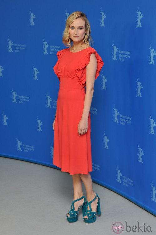 Diane Kruger, color block con complementos