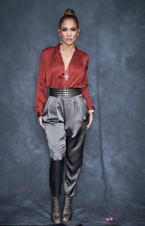 Jennifer Lopez, color block de Gucci