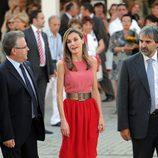 Letizia Ortiz, color block a la española