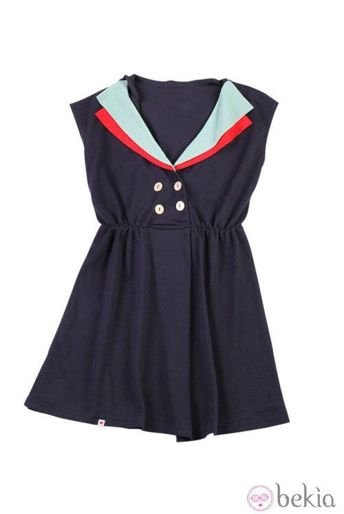 Vestido azul navy de Kling