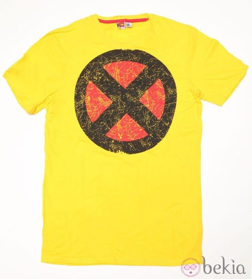 Camiseta con logo de X-Men de Bershka