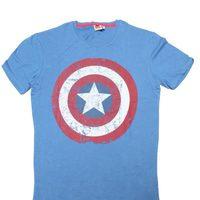 Camiseta con logo de Capitán América de Bershka