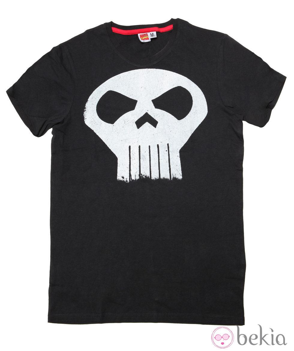 Camiseta con logo de El Castigador de Bershka