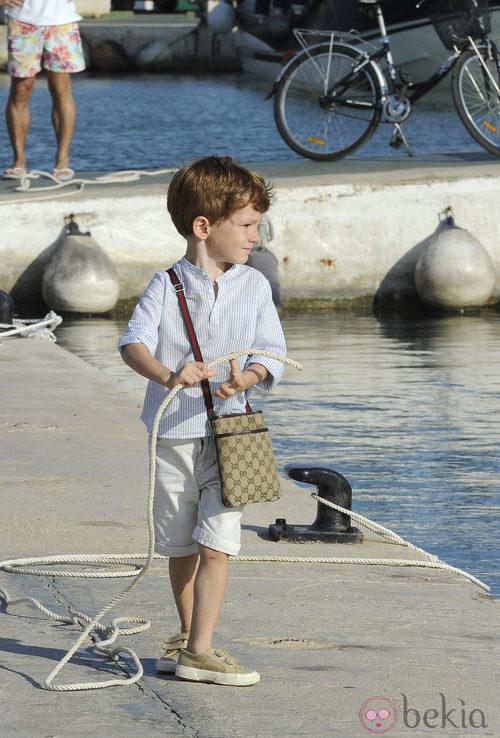 Sacha Thyssen con bolso de Gucci