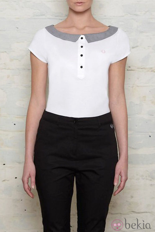 Camiseta con escote barco de Amy Winehouse para Fred Perry