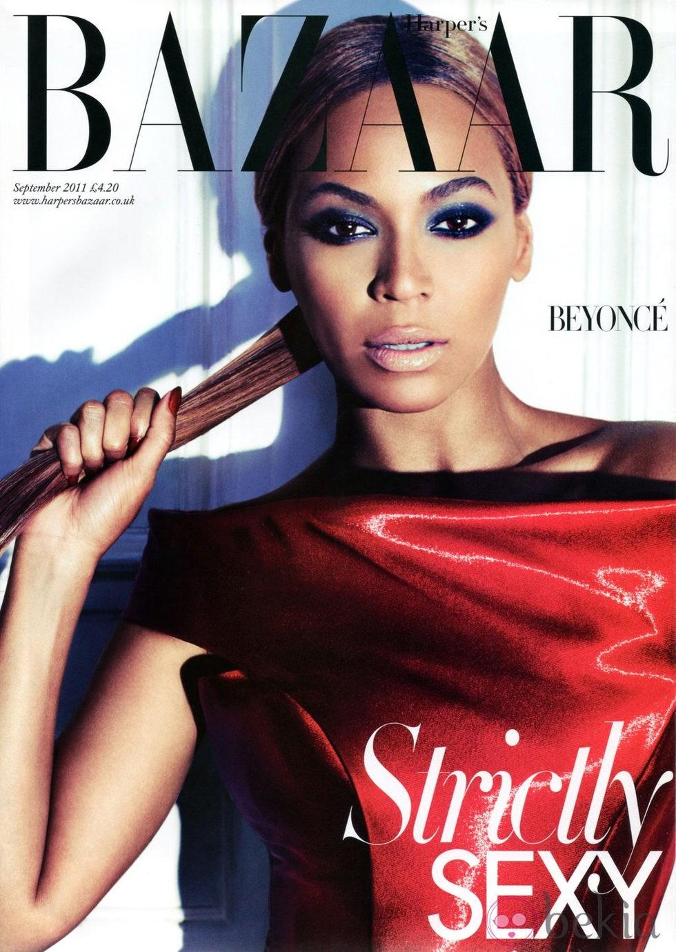 Beyonce, portada de Harper's Bazaar UK en septiembre de 2011