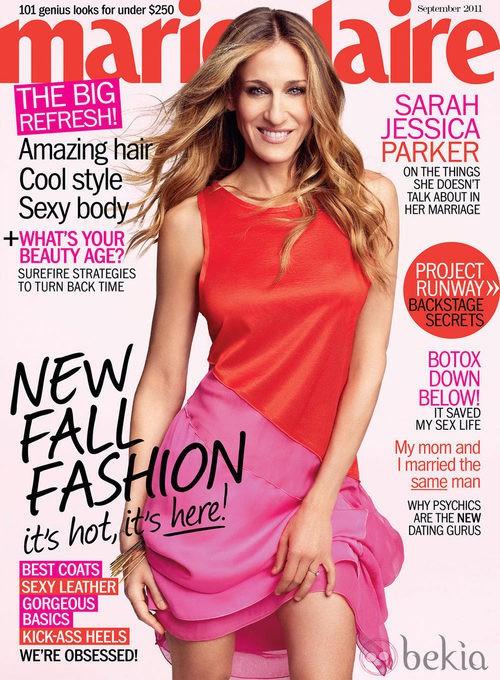 Sarah Jessica Parker, portada de Marie Claire USA en septiembre de 2011