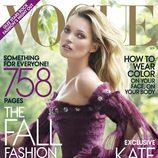 Kate Moss, portada de Vogue USA en septiembre de 2011