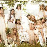 Kate Moss y sus damas de honor en Vogue