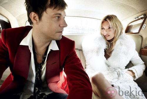 Kate Moss y su marido Jamie Hince en Vogue USA