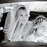 Kate Moss, su padre y su hija, Lila Grace, en Vogue