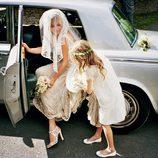 Kate Moss en su boda con su hija Lila Grace