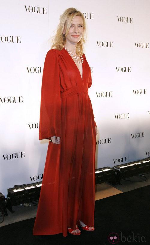 Cate Blanchett con traje vintage de Ossie Clark