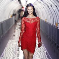 Vestido rojo de encaje de Mango, otoño/invierno 2011