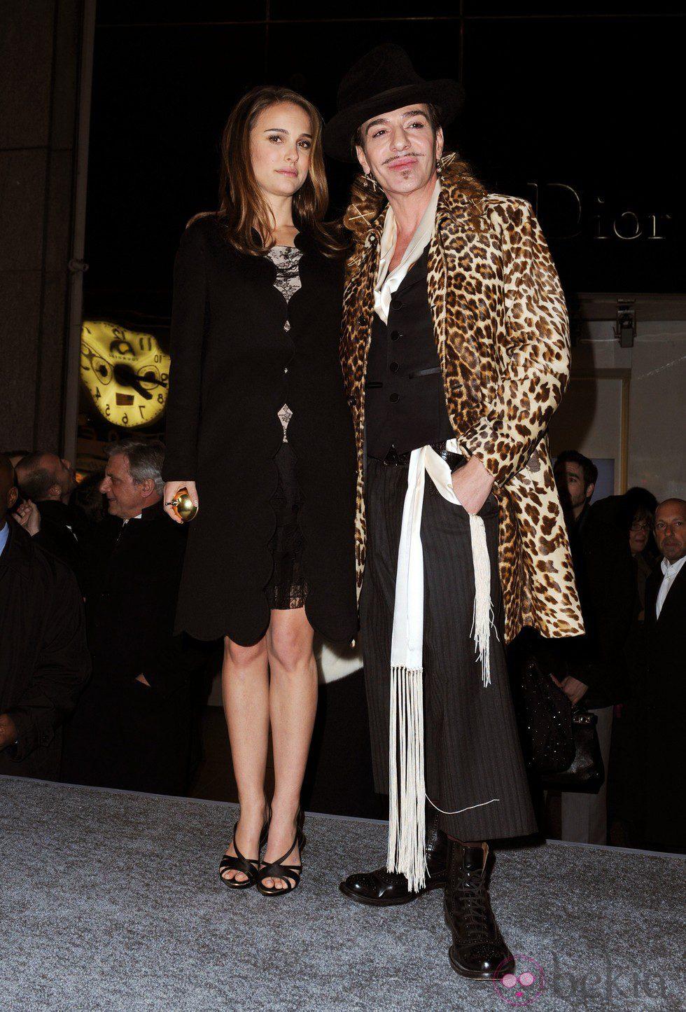 John Galliano y Natalie Portman