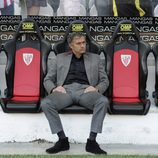 Mourinho en el banquillo