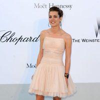 Carlota Casiraghi con vestido de Chanel en rosa palo