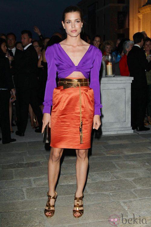 Carlota Casiraghi con vestido de Gucci