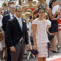 Carlota Casiraghi de Chanel en la boda real de Mónaco