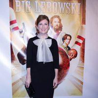 Julianne Moore de Jason Wu en la presentación del Blu-ray de 'El gran Lebowski'