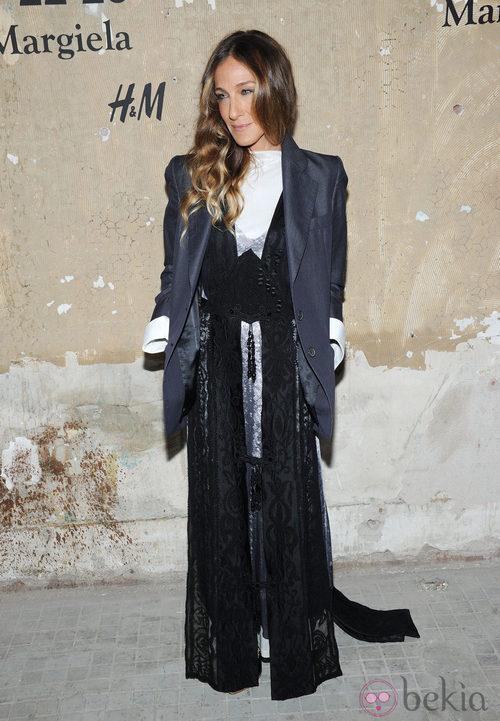 Sarah Jessica Parker en la presentación de la colección de Maison Martin Margiela y H&M en Nueva York