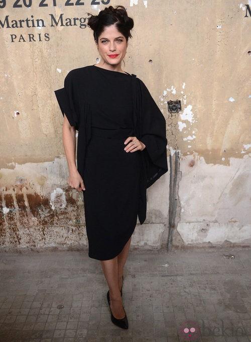 Selma Blair en la presentación de la colección de Maison Martin Margiela y H&M en Nueva York