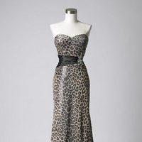 Vestido animal print con fajín de la colección de vestidos de Barbarella