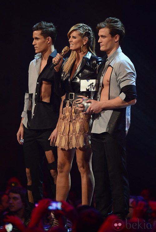 Heidi Klum con un abrigo de Versace en los MTV Europe Music Awards 2012