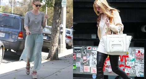 Dakota Fanning con sneakers de Isabel Marant en color beige