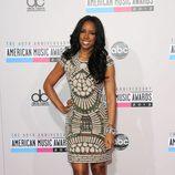Kelly Rowland con un minivestido con pedrería en los American Music Awards 2012