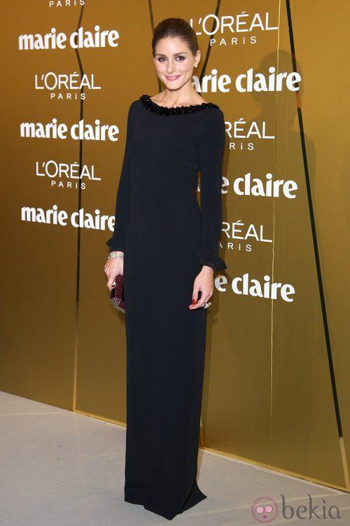 Olivia Palermo sencilla de negro en los Premios Prix de la Moda de Marie Claire 2012