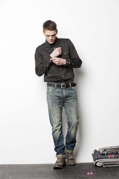Camisa negra de la colección otoño/invierno 2012/2013 de Lee hombre